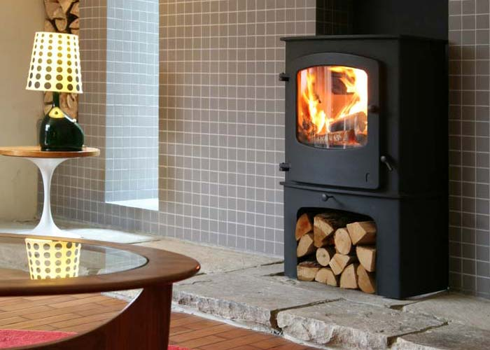 Charnwood Cove fireplace